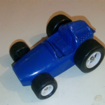 Galanite made in Sweden Blue plastic racing car